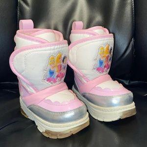 5 Light Up Disney Princess snow boots girls